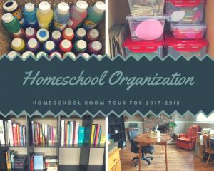 How I Organize our Homeschool Room