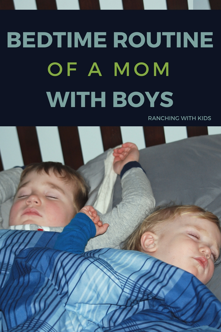 The bedtime routine of a mom with boys can be very entertaining, chaotic and frustrating, but the memories are priceless.