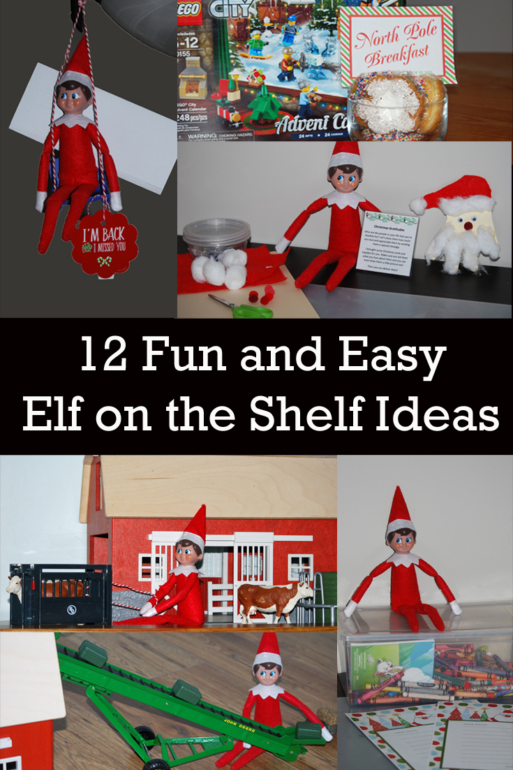 12 Fun and Easy Elf on the Shelf Ideas. Elf on the Shelf | Ranch Elf | Christmas | Christmas Traditions | Craft Time | Homemade Cards | Holidays |Traditions