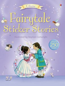 A wonderfully illustrated sticker book with a collection of stories and stickers.
