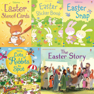Looking for some amazing books for Easter? Easter, Easter Books, Usborne Books, Sticker Books, Easter Story, Chicks, Eggs, Bunny