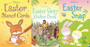 Looking for some amazing childrens book for Easter? Easter, Easter Books, Usborne Books, Sticker Books, Easter Story, Chicks, Eggs, Bunny