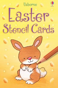 Children can have fun drawing with these Easter stencil cards. Easter, Easter Books, Usborne Books, Sticker Books, Easter Story, Chicks, Eggs, Bunny