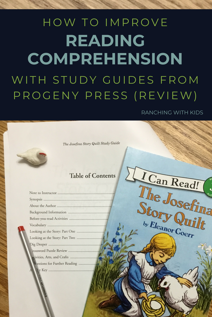 How to Improve Reading Comprehension with Study Guides from Progeny Press (Review). #readingcomprehension #readingcomprehensionactivities #studyguides #homeschoolunitstudy #josefinastoryquilt