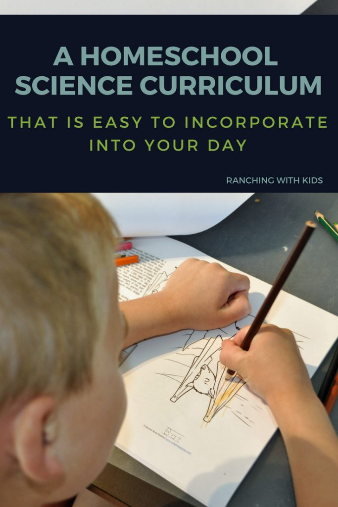 A homeschool science curriculum that is easy to incorporate into your day. #homeschoolscience #sciencecurriculum #homeschoolcurriculum