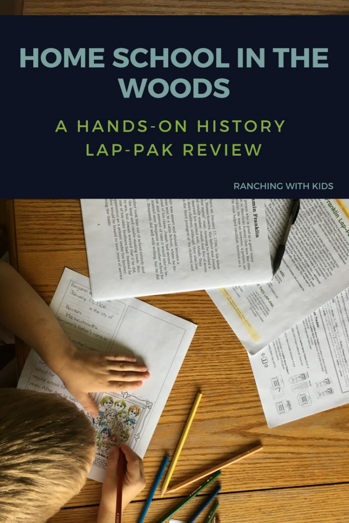 A review of a hands-on history lap-pak from Home School in the Woods. #historycurriculum #historystudies #homeschoolinthewoods