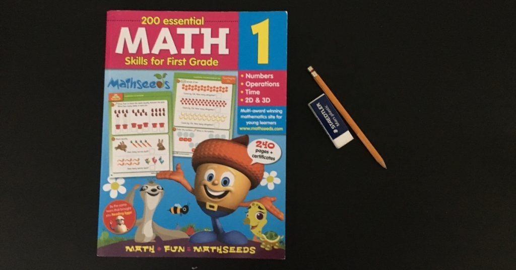 Reading Eggs and Mathseeds Workbook Review. #mathseeds #readingeggs #mathworkbook