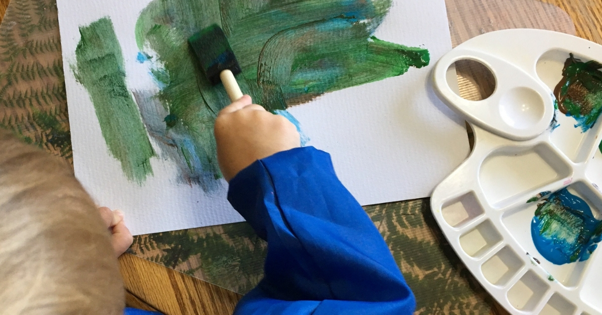 Painting is one of our fun afternoon activities.