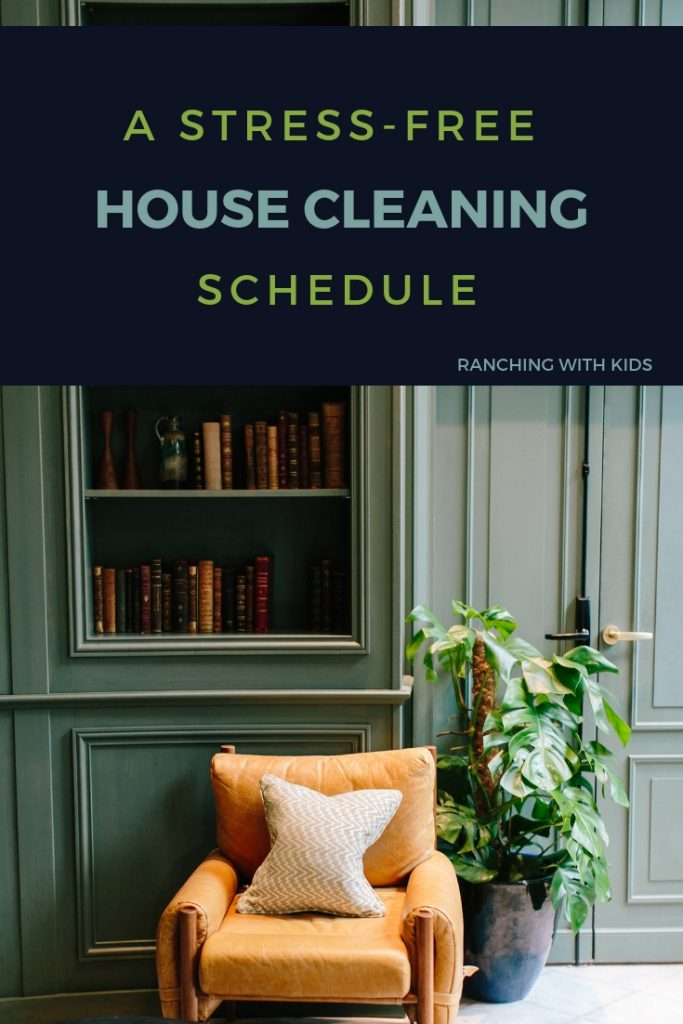 A Stress-Free House Cleaning Schedule. #housecleaningschedule #housekeeping #housecleaningscheduleprintable