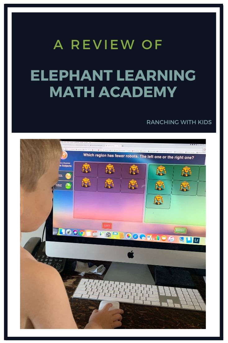 Elephant Learning Math Academy Review #onlinemath #homeschoolmath #math