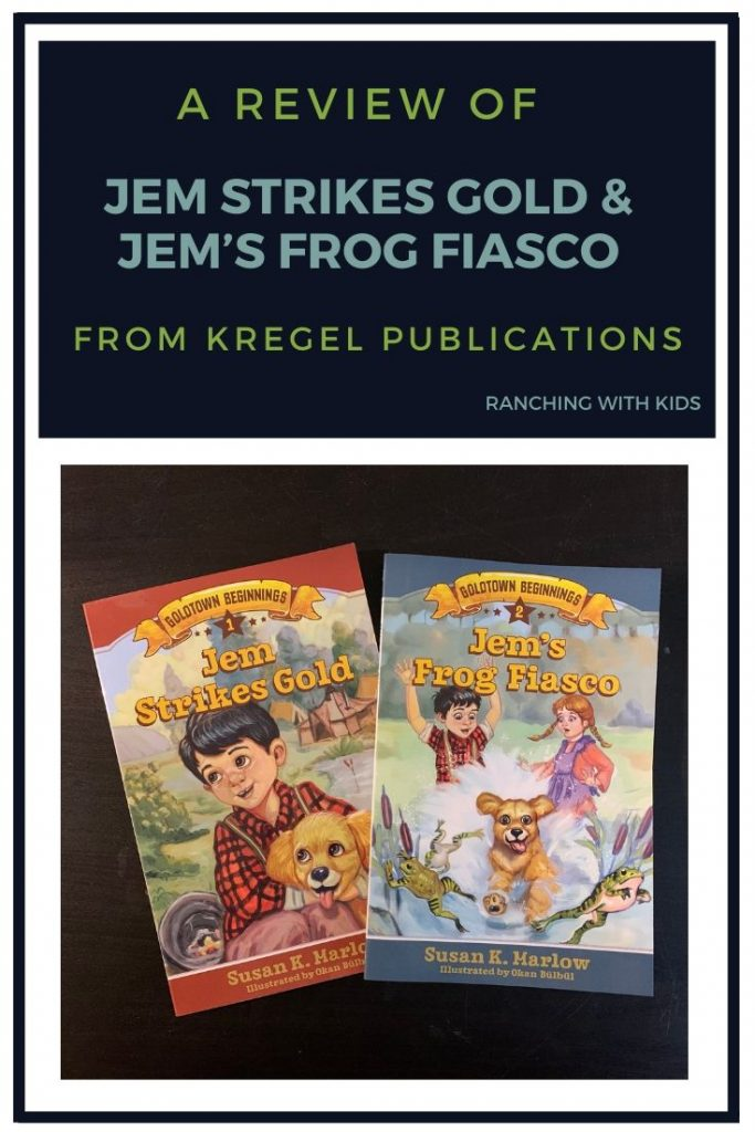 A Review of Jem Strikes Gold and Jem's Frog Fiasco. #goldpanning #homeschool #socialstudies
