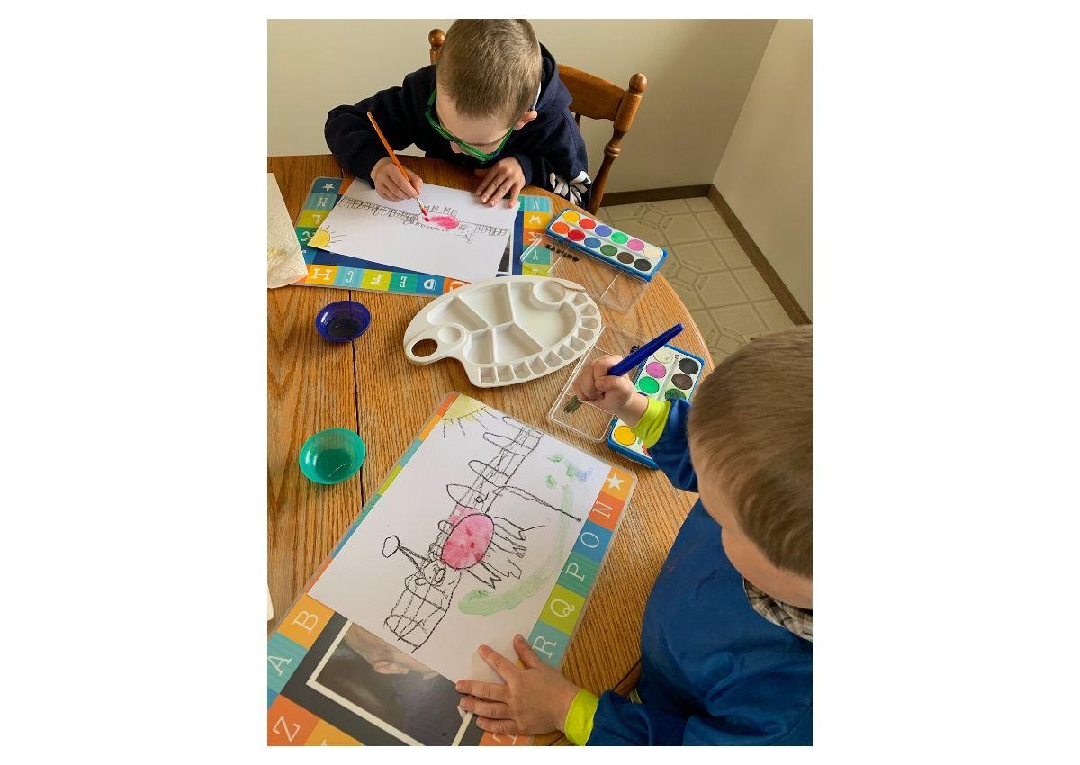A fun art curriculum project from Home Art Studio