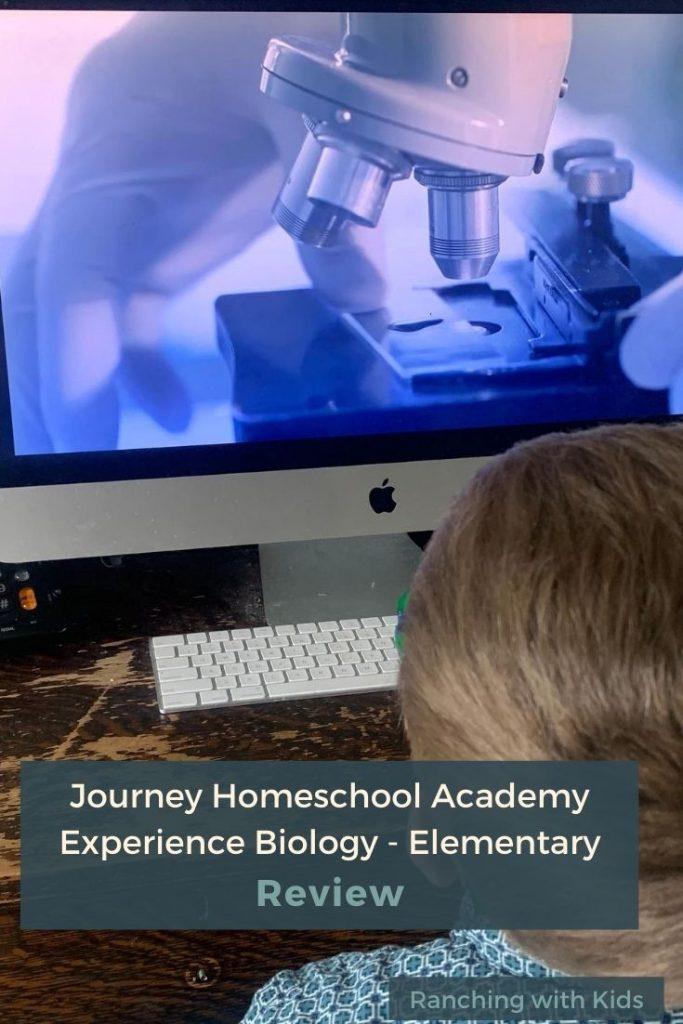 Journey Homeschool Academy  Experience Biology: Elementary Course. #homeschoolbiology #homeschoolscience #elementarybiology