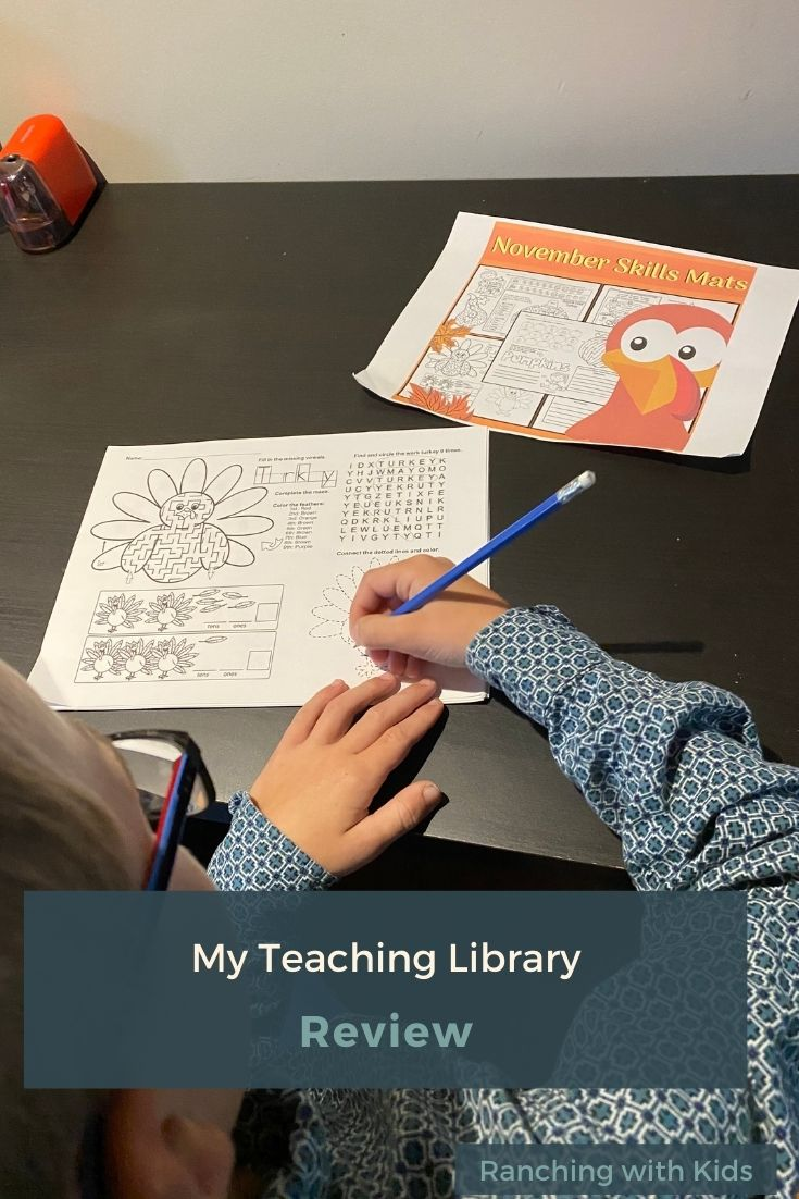 My Teaching Library Review.  #homeschoolresources #worksheets #educationresources